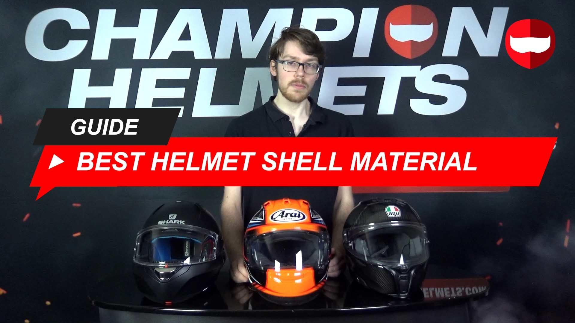 Polycarbonate vs Fiberglass vs Carbon Fiber Shell Motorcycle Helmets + Video