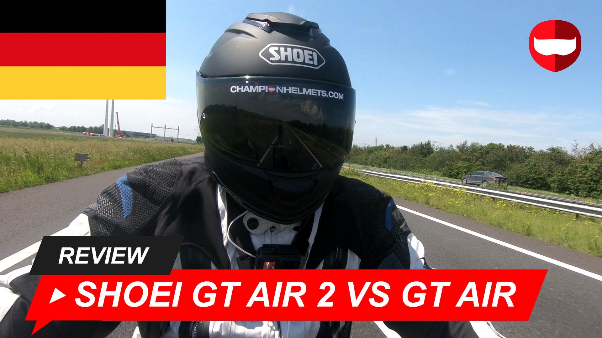 Shoei GT Air vs GT Air 2 Straßentest + Video