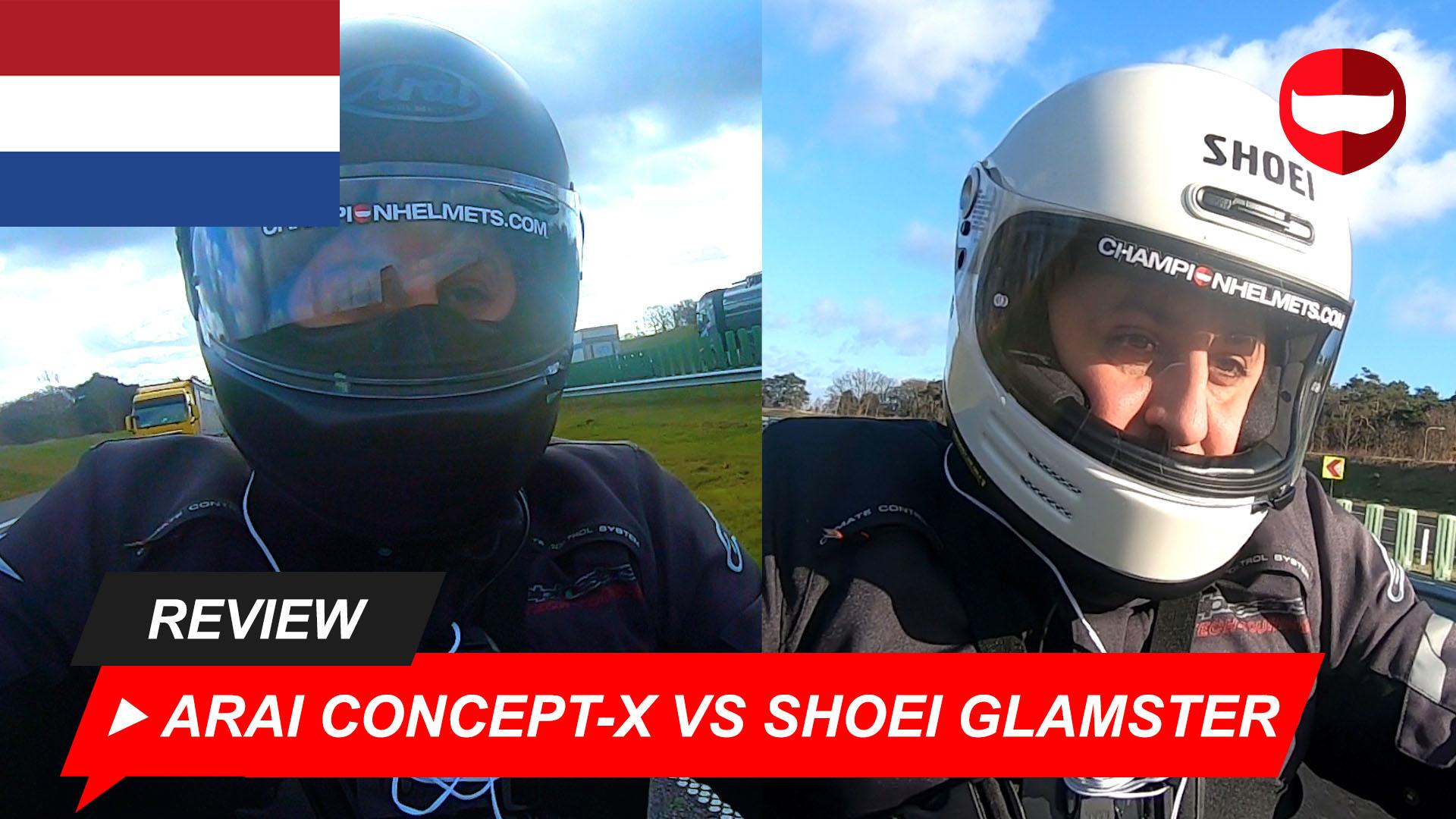 Shoei Glamster vs Arai Concept-X + Video