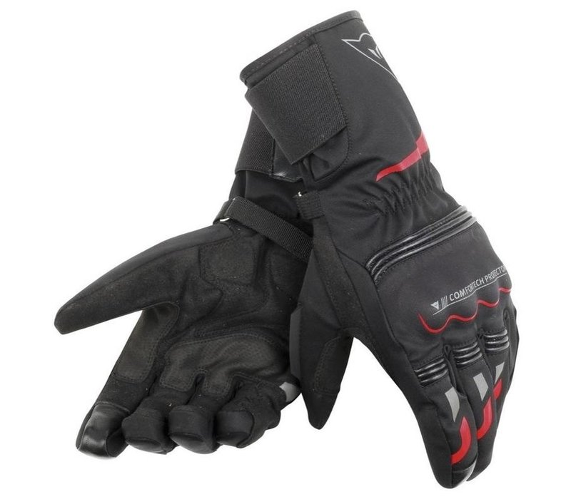 Buy Dainese Tempest D-Dry Black Red Long Gloves? 5% Champion Cashback on your Order Value!