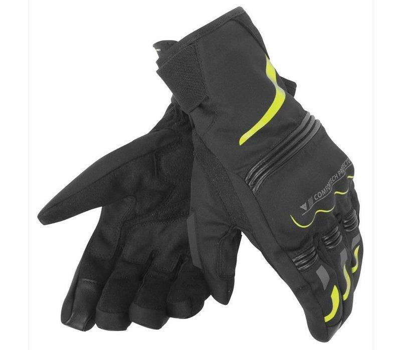 Dainese Tempest D-Dry Schwarz Neon Gelb Short Handschuhe  + 5% Champion Cash Back