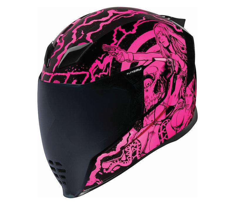 ICON Airflite Pleasuredome Redux Roze Helm Kopen? + 50% korting op een Extra Vizier!