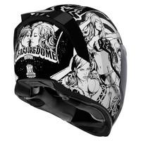Buy ICON Airflite Pleasuredome Redux White Helmet + 50% discount Extra Visor!