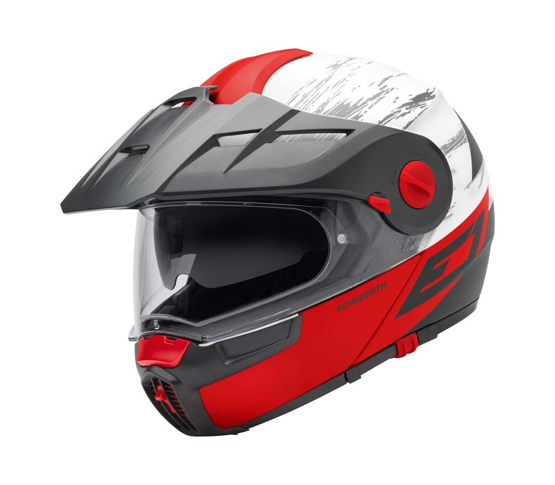 Buy Schuberth E1 Crossfire Red Helmet? Free Shipping!