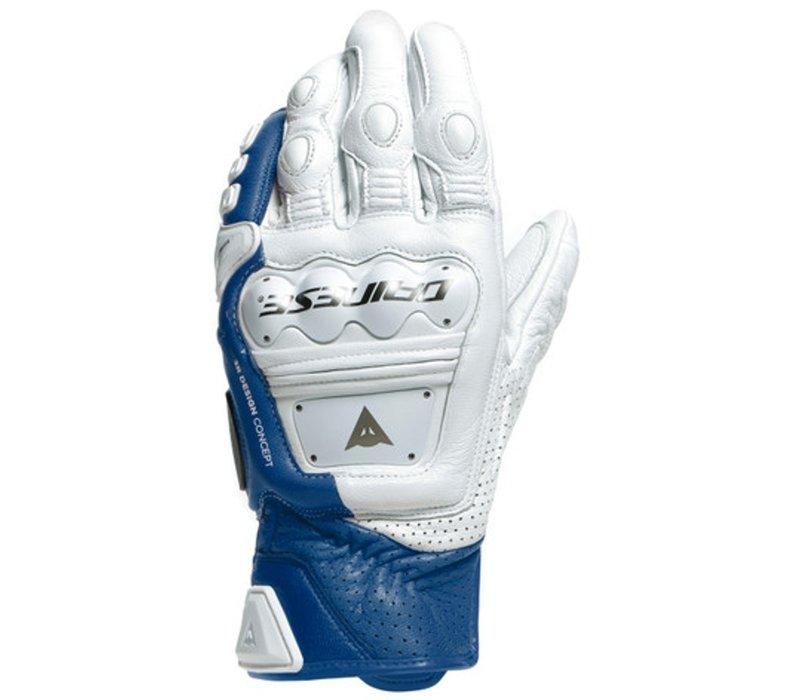 Buy Dainese 4 Stroke 2 White Blue Gloves