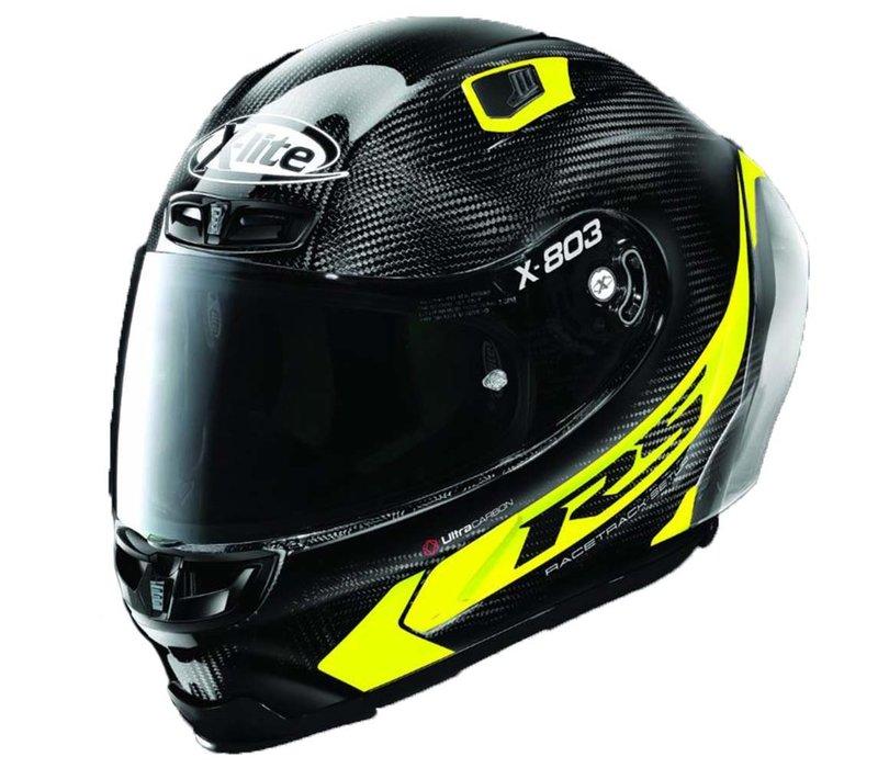 Buy X-Lite X-803 RS Ultra Carbon Hot Lap Yellow Helmet? +Free Dark Smoke Visor!