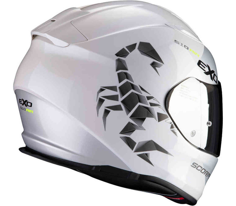 Scorpion Exo 510 Air Pique Helmet Pearl White Silver + 50% discount Extra Visor!