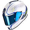 Scorpion Scorpion Exo 510 Air Occulta Helmet Pearl White Blue + 50% discount Extra Visor!