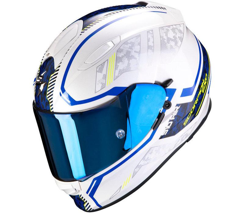 Scorpion Exo 510 Air Occulta Helmet Pearl White Blue + 50% discount Extra Visor!