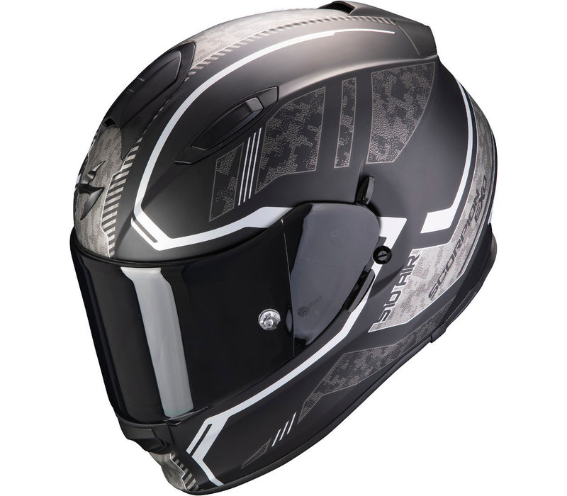 Scorpion Exo 510 Air Occulta Matt Zwart-Zilver Helm kopen? Gratis Extra Vizier!
