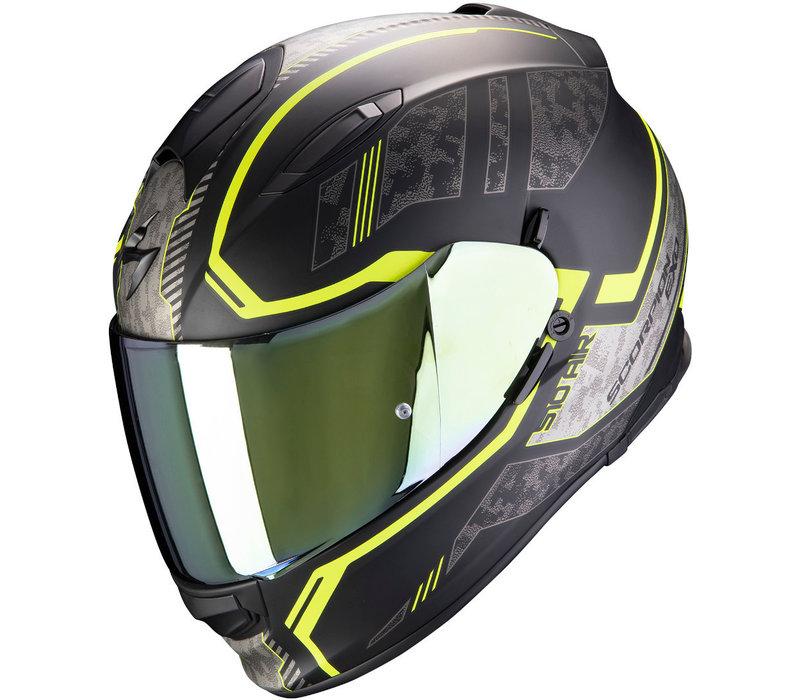 Buy Scorpion Exo 510 Air Occulta Matt Black-Neon Yellow Helmet? Free Additional Visor!