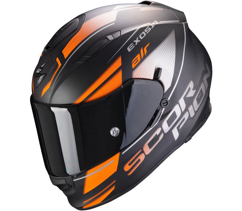 Scorpion Exo 510 Air Ferrum Helm Matt Zwart-Oranje Zilver kopen? Gratis Extra Vizier!
