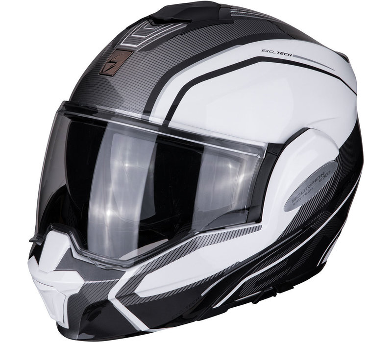 Buy Scorpion Exo-Tech Time-Off Pearl White Silver Helmet? + Free Shipping!