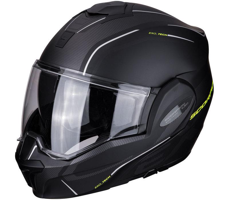 Buy Scorpion Exo-Tech Time-Off Matt Black-Neon Yellow Helmet? + Free Shipping!