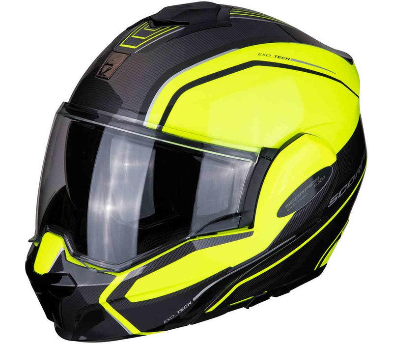 Buy Scorpion Exo-Tech Time-Off Neon-Yellow Silver Helmet? + Free Shipping!