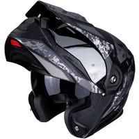 Buy Scorpion ADX-1 Battleflage Matt Black Silver Helmet + Free Shipping!