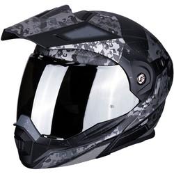 Scorpion Scorpion ADX-1 Battleflage Matt Zwart Zilvere Helm kopen + Gratis Verzending & Retour!