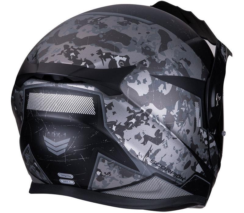 Scorpion ADX-1 Battleflage Matt Zwart Zilvere Helm kopen + Gratis Verzending & Retour!