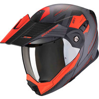 Scorpion ADX-1 Tucson Cement Matt Grijs Rode Helm kopen + Gratis Verzending & Retour!