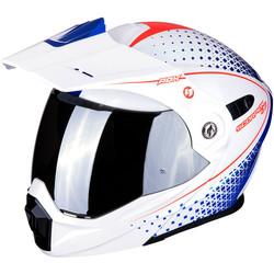 Scorpion Scorpion ADX-1 Horizon  Helmet Pearl White Red Blue + 50% discount Extra Visor!