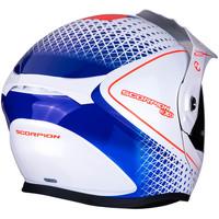 Scorpion ADX-1 Horizon  Helmet Pearl White Red Blue + 50% discount Extra Visor!