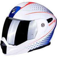 Scorpion ADX-1 Horizon Helm Pearl Wit Rood Blauw + 50% korting op een Extra Vizier!