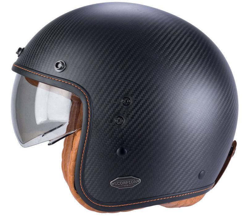 Buy Scorpion Belfast Carbon Matt Black Helmet + Free Shipping!