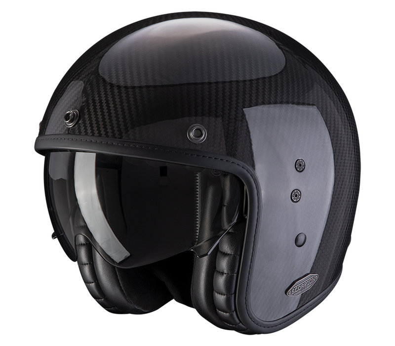 Buy Scorpion Belfast Carbon Black Helmet + Free Shipping!