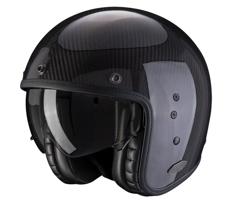 Scorpion Belfast Carbon Zwart Helm kopen + Gratis Verzending & Retour!