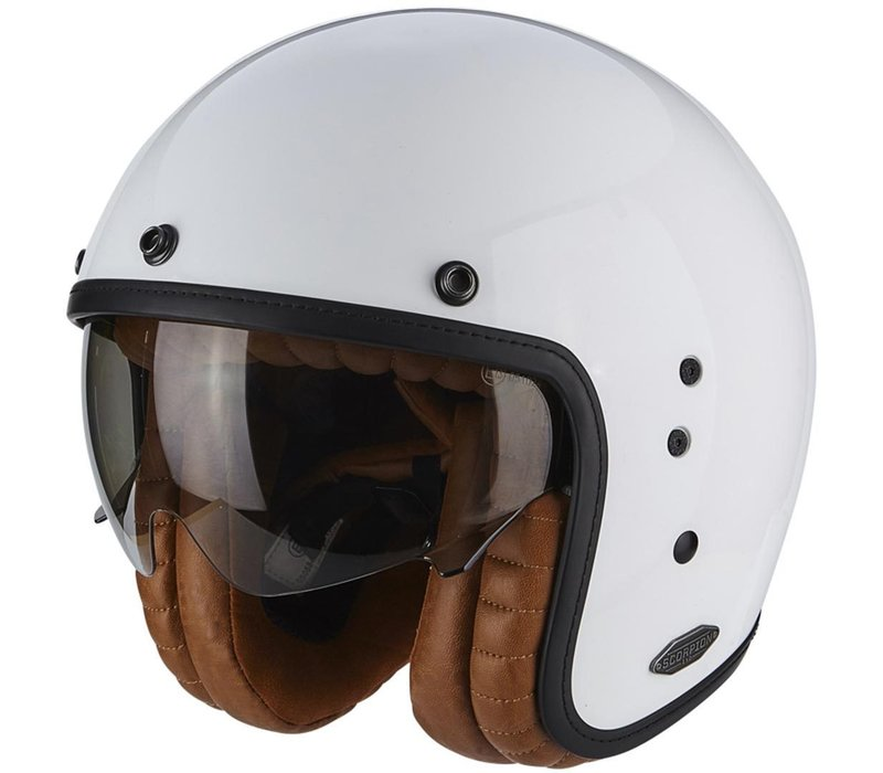 Buy Scorpion Belfast Luxe White Helmet + Free Shipping!