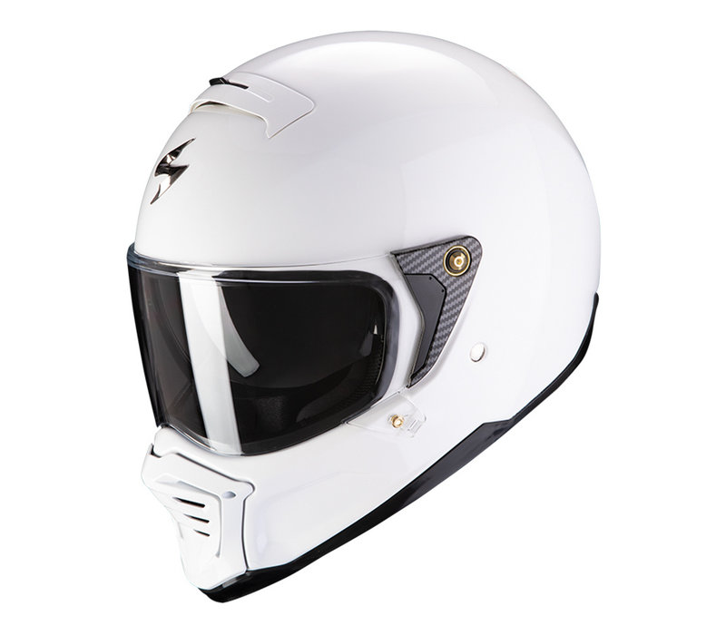 Buy Scorpion Exo-HX1 Solid White Helmet + Free Shipping!