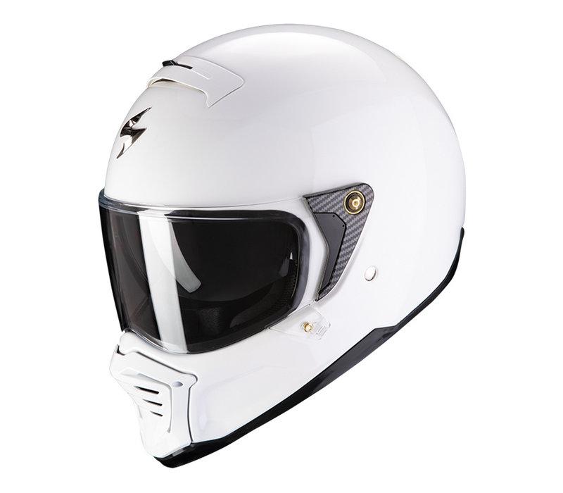 Scorpion Exo-HX1 Solid Witte Helm kopen + Gratis Verzending & Retour!
