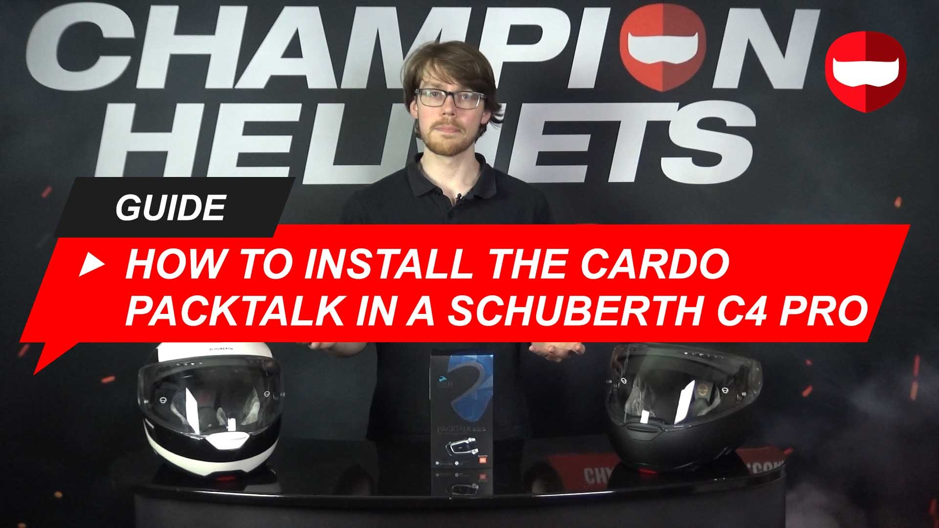Install Cardo Packtalk Bold in Schuberth C4 Pro Guide +Video