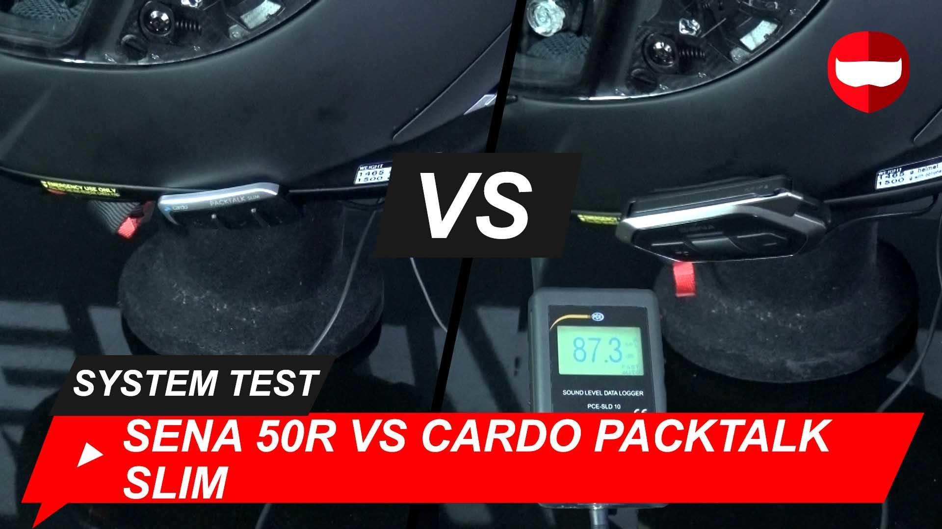 Cardo Packtalk Slim vs Sena 50R Tested + Video