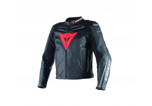 Dainese Super Fast Pelle Jacket Black Black Anthracite