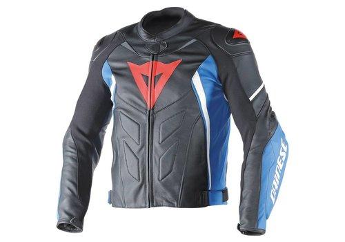 Dainese Avro D1 Кожаные Куртка черный синий белый