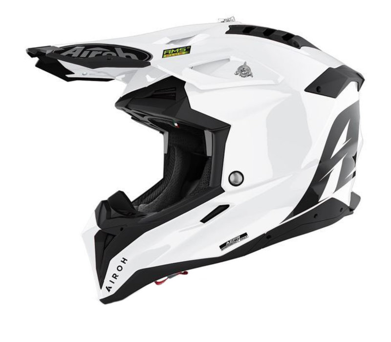 Buy Airoh Aviator 3 White Gloss Helmet + Free Shipping!