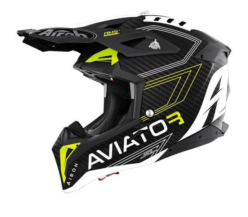 Buy Airoh Aviator 3 Primal Carbon Matte Yellow Helmet + Free Shipping!