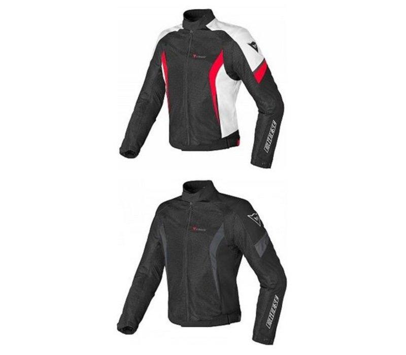 d74836f9aa0 chaqueta Dainese Air Crono Tex Negro Blanco Rojo - Champion Helmets