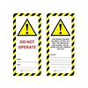 Master Lock Laminated safety tag UIO-SFTAG
