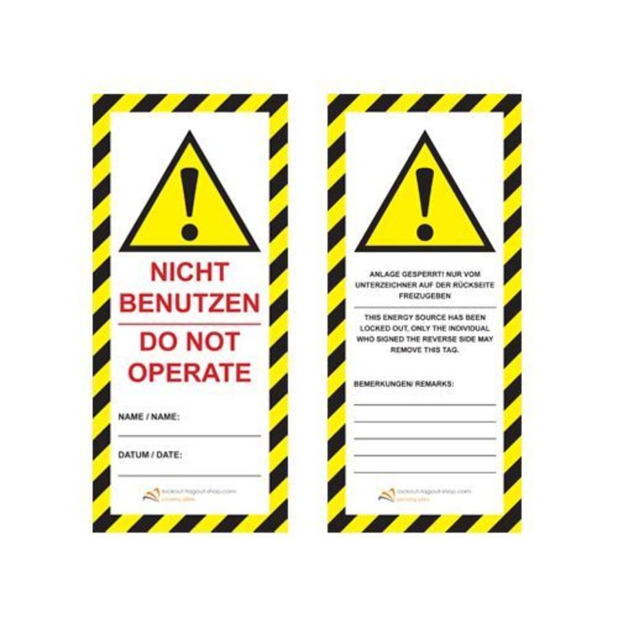 Laminated safety tag UIO-SFTAG