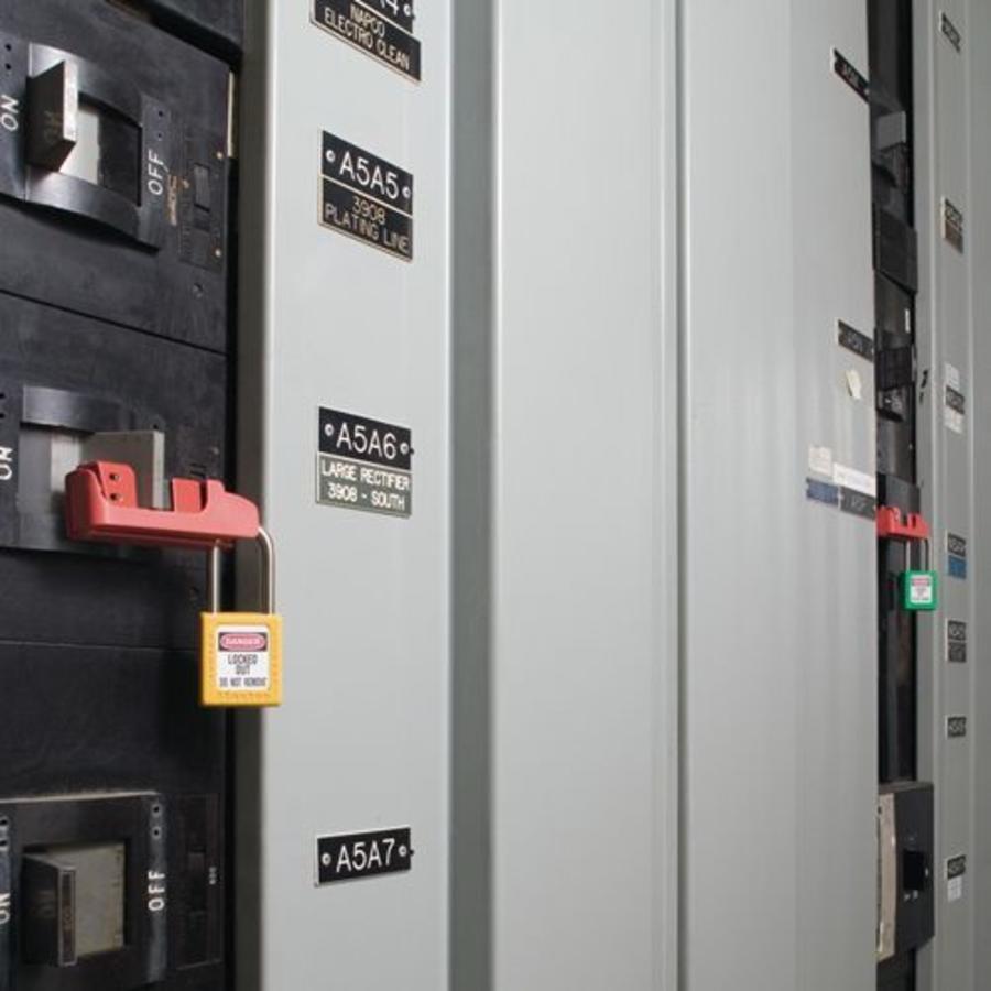 Circuit breaker lock-out 506 (491B and 493B)