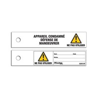 Maintenance safety tags S297