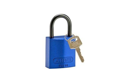 Anodized aluminium safety padlock blue 834856