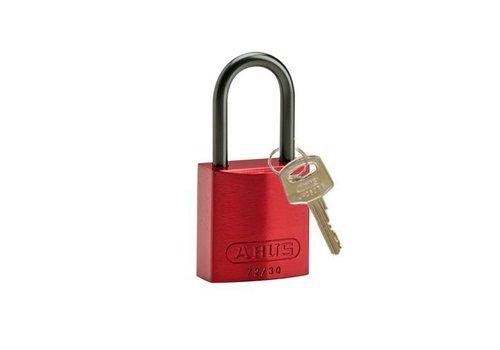 Anodized aluminium safety padlock red 834864