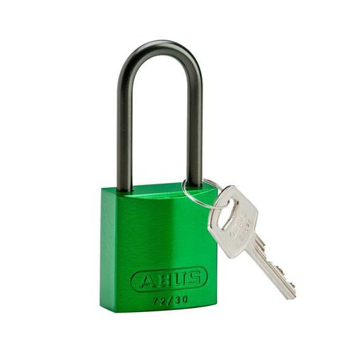 Anodized aluminium safety padlock green 834872