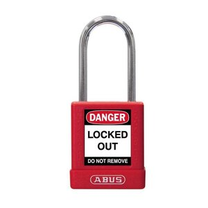 Abus Aluminum safety padlock with red  cover 77569