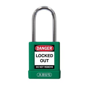 Abus Aluminum safety padlock with green  cover 74BS/40 GRÜN