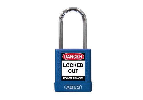 Aluminum safety padlock with blue  cover 74BS/40 blue