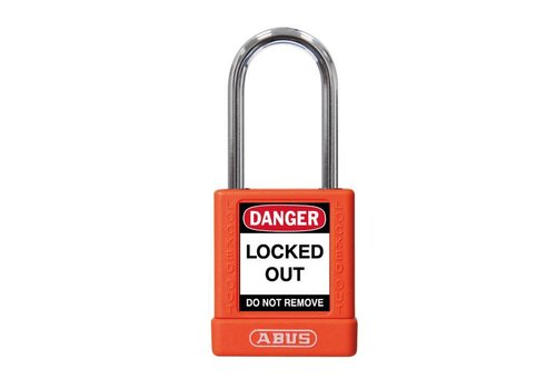 Aluminum safety padlock with orange  cover 74BS/40 ORANGE